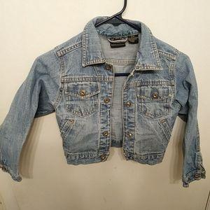 Dennium Jean jacket girls, size 6 to 6x. Kids blue